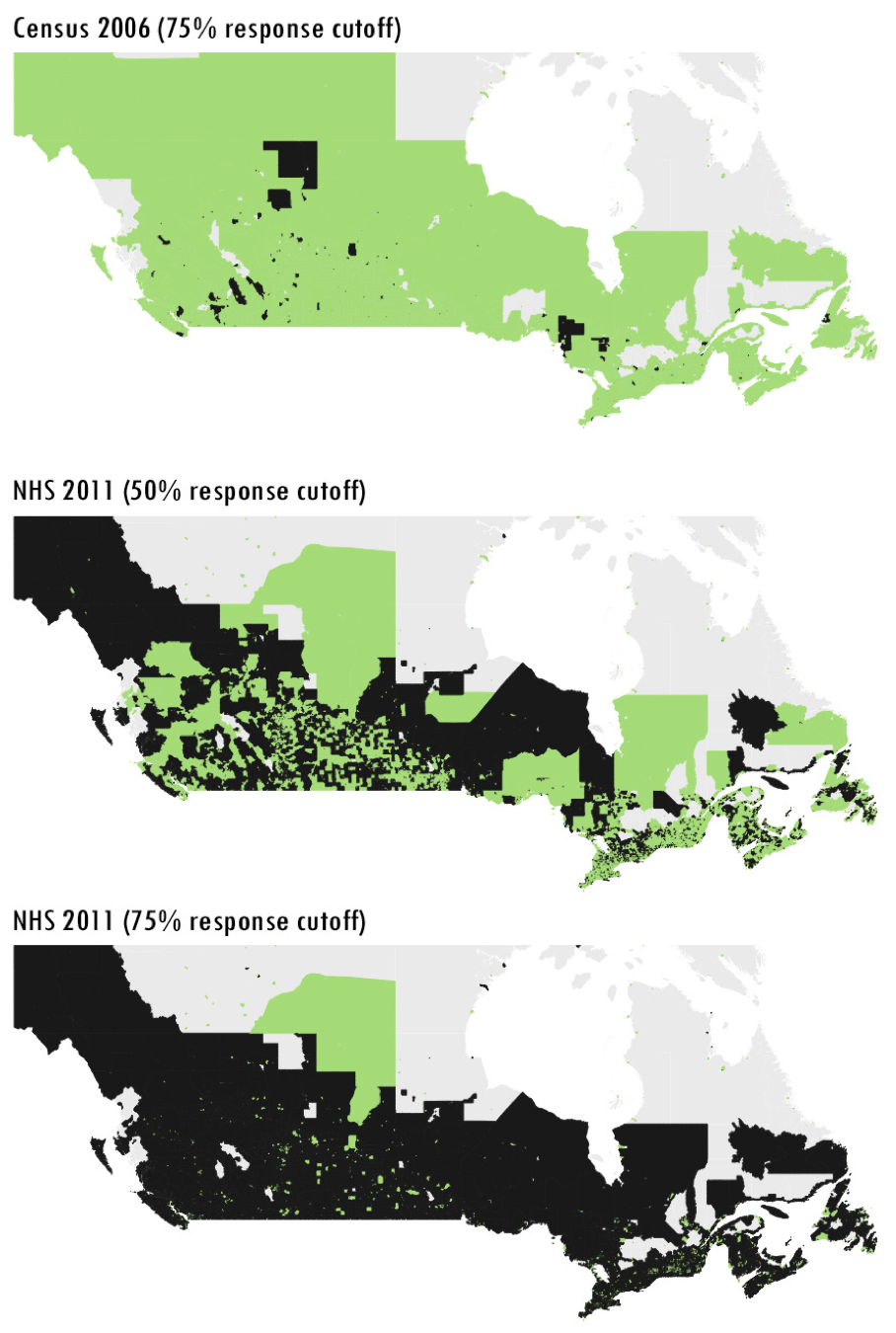 Can I Cut Off Top Of Map Of Canada How the government's census strategy keeps us in the dark   Behind