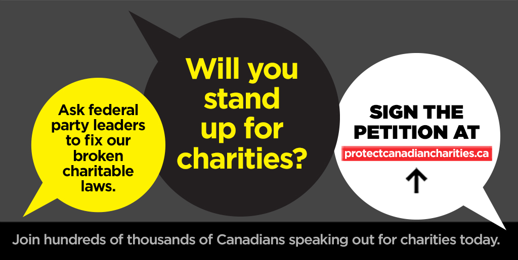 Sign the petition to protect Canadian charities