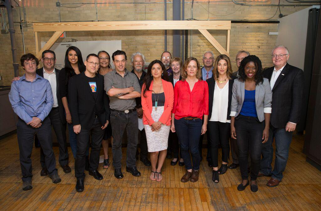 Photograph of activists and organizations who helped create the Leap Manifesto