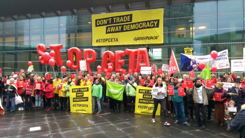 Stop CETA demonstration