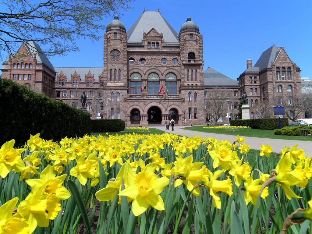 ontario parliament in spring